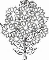 Bouquet Dibujosparacoloreargratis Coloringhome Colora Previus sketch template