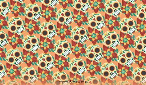 seamless day   dead pattern vector