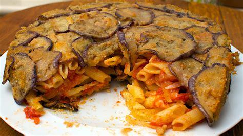 aubergine cuisine sicilian aubergine pasta pie jono jules do food wine