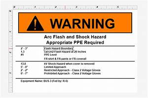 changing text on a label template With arc flash label template