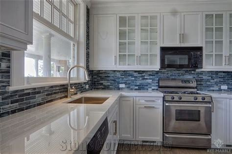 Nano Glass Stone Staff Kitchen Countertop, Glass Mosaic