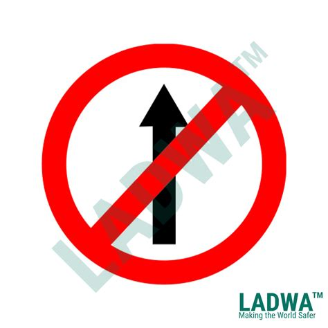 No Entry Sign Board 600 Mm Circle Ladwa Solutions Inc