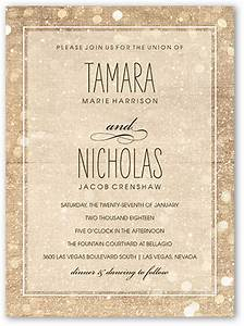 sparkly lights 6x8 wedding invitations shutterfly With 6x8 wedding invitations