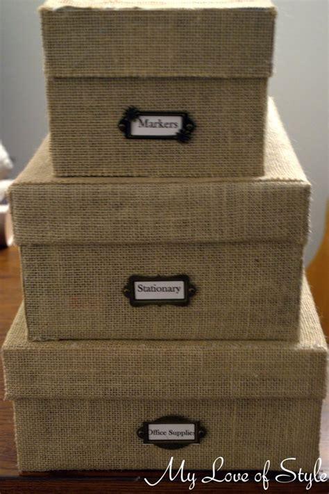 hometalk diy custom burlap storage box