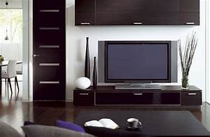 minimalist living room with tv stand table lamp wooden With living room tv stand designs