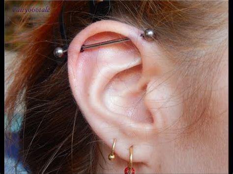 piercings industrial piercing experience  aftercare