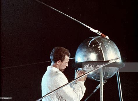 Soviet technician working on sputnik 1, 1957. News Photo - Getty Images