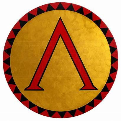 Shield Greek Round Lambda Wooden Shields Spartan