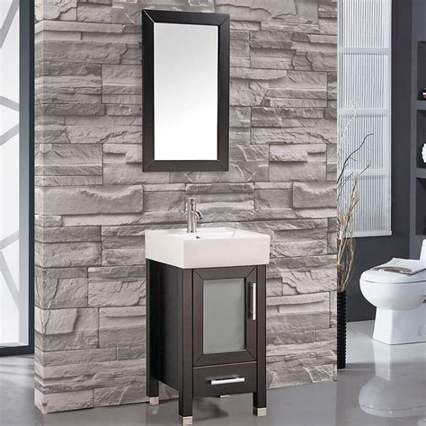 "Foremost columbia coeat2418 contemporary bathroom vanity. MTDVanities Malta 18"" Single Sink Bathroom Vanity Set with ..."