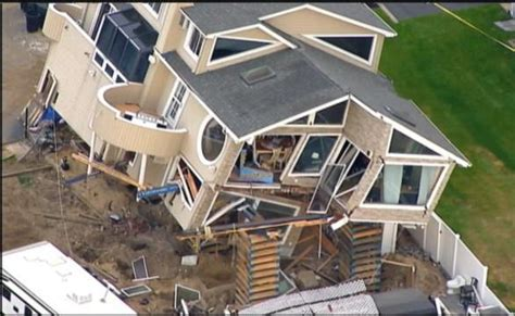 sandy damaged house destroyed  fall  cribbing jlc