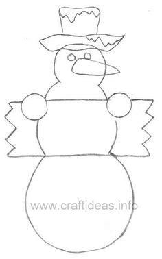 printable snowman outline    program