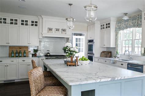 white and blue kitchen transitional kitchen sherry hart designs