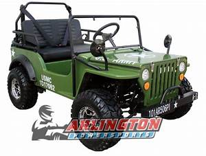 Gas Golf Cart 125cc Jeep Mini Truck Elite Edition With 3