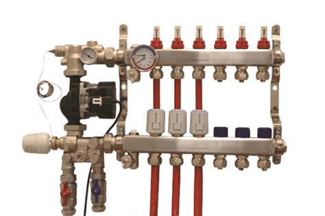 underfloor heating manifold actuator mixing unit warmup
