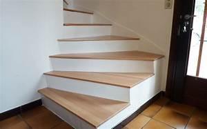 Renovation D Escalier En Bois : r novation escalier en b ton avec marches en bois deco ~ Premium-room.com Idées de Décoration
