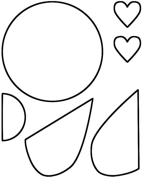 love bug paper craft black  white template