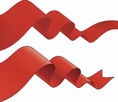Flowing Vector Ribbons Fabric Clip Illustrations Illustration