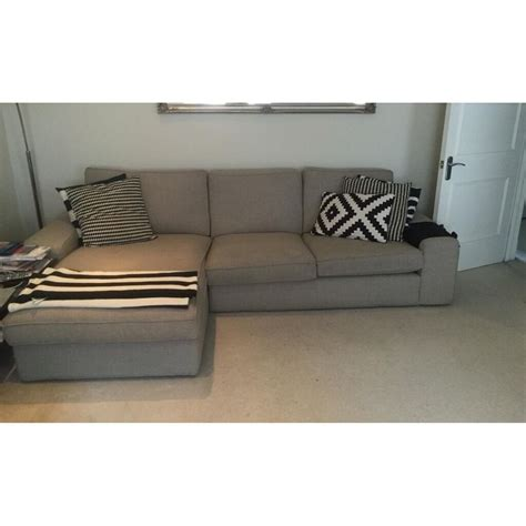 Ikea Kivik Corner Sofa by Ikea Kivik Corner Sofa With Chaise Lounge In Grey In