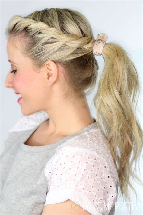 twisted ponytail day  twist  pretty