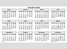 Calendario laboral de 2019 tendrá ocho días festivos en