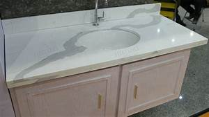 Calacatta White Quartz Countertop, White Quartz Vanity Top