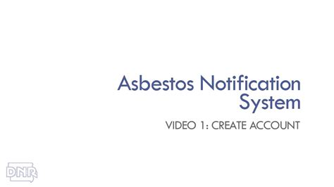 asbestos training video create account iowa dnr youtube