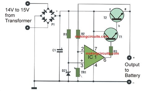 Simple Battery Charger Circuits With Auto Cut Off
