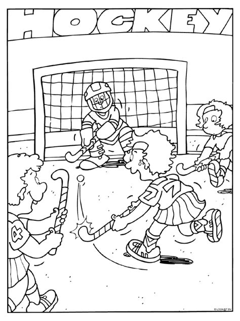 Kleurplaat As Hockey by Kleurplaat Hockey Kleurplaten Nl
