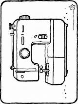 Machine Sewing Colouring Kiddicolour Drawing sketch template