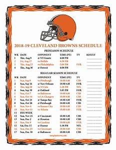 Free Ticket Templates Printable Printable 2018 2019 Cleveland Browns Schedule