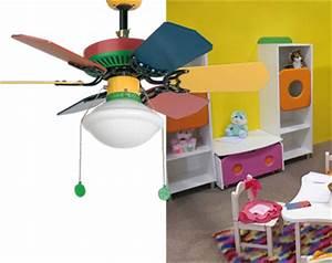 ventilateur de plafond avec lampe pour chambres d39enfants With ventilateur de plafond pour chambre