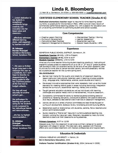 Auburn Resume Template by Elementary School Resume Template Search