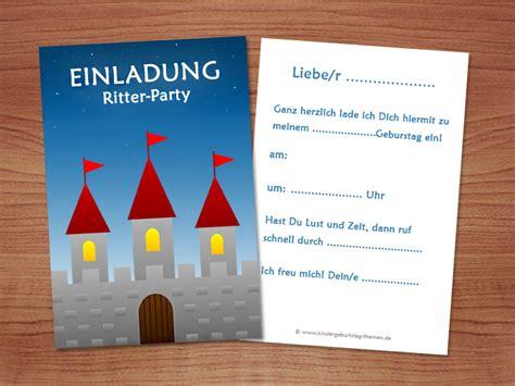 ritter einladungskarten kostenlose vorlagen zum ausdrucken