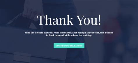 Simple Pleasing Thank You Page Template Ultimate