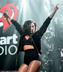 Demi Lovato sizzles on stage in skimpy outfit at Jingle ...