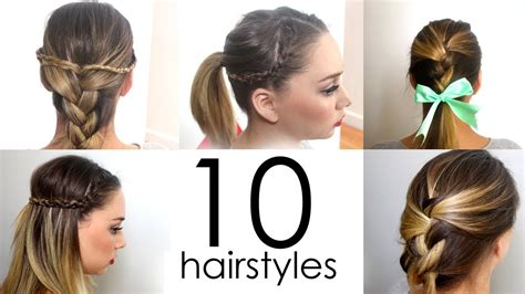 quick easy everyday hairstyles   minutes youtube