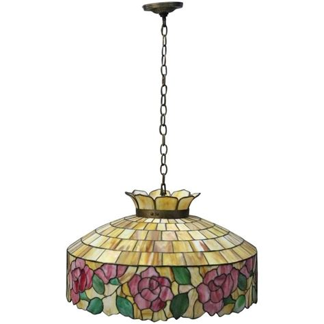 stained glass chandelier arts and crafts wilkinson school leaded stained glass
