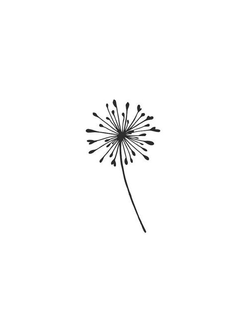 Dandelion svg #11, Download drawings | crafts | Puzzle tattoos, Dandelion tattoo small, Small