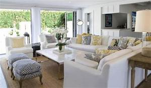 tapis sisal pour le salon contemporain conseils et photos With tapis jonc de mer avec grand canapé 10 places