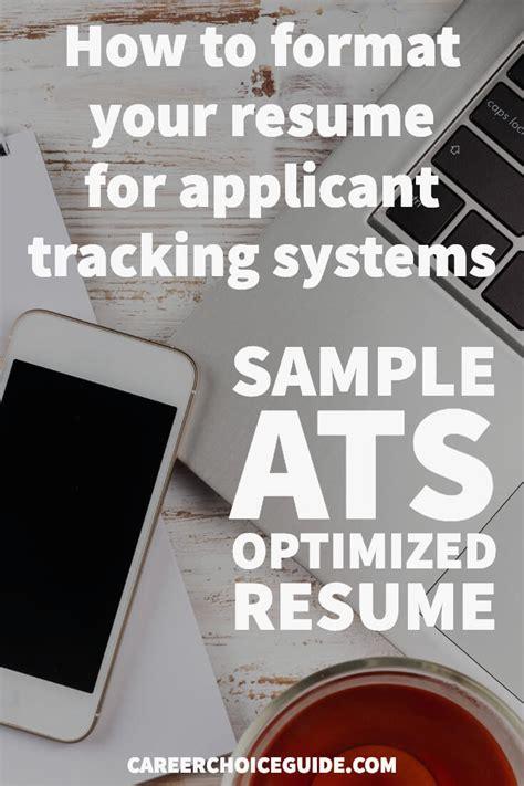 ats optimized resume sample