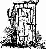 Outhouse Clipart Drawing Drawings Pencil Line Patterns Coloring Wood Pages Country Burning Bathroom Clip Pyrography Stencils He Adult Bathrooms Plans sketch template