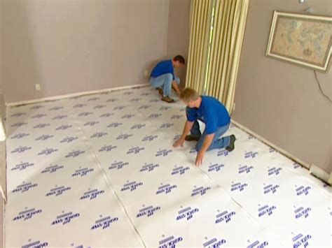 Installing Underlayment For Laminate Flooring On Concrete by How To Install Underlayment And Laminate Flooring How