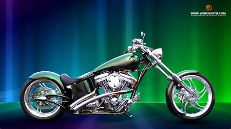 Chopper Style Bike Desktop Wallpaper