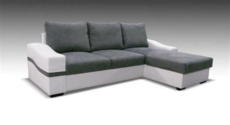 canapé d angle blanc gris canape d 39 angle à droite convertible oregon blanc gris