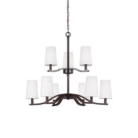 kitchen lighting chandelier sea gull lighting nance 9 light heirloom bronze chandelier 2171