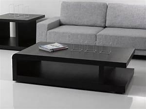 Table Basse Noir : table basse lisa 140 x 80 x 37 5 cm noir 68082 68084 ~ Teatrodelosmanantiales.com Idées de Décoration