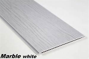 Panneau Pvc Blanc : 50 m2 pvc panneau pour plafond muraux plaques 200x25cm ~ Dallasstarsshop.com Idées de Décoration