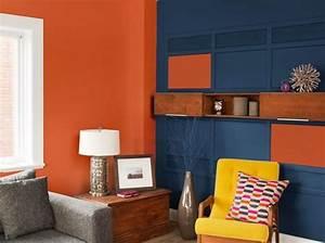 Bleu Et Orange : peinture salon plus de 20 couleurs canons pour le repeindre elle d coration ~ Nature-et-papiers.com Idées de Décoration