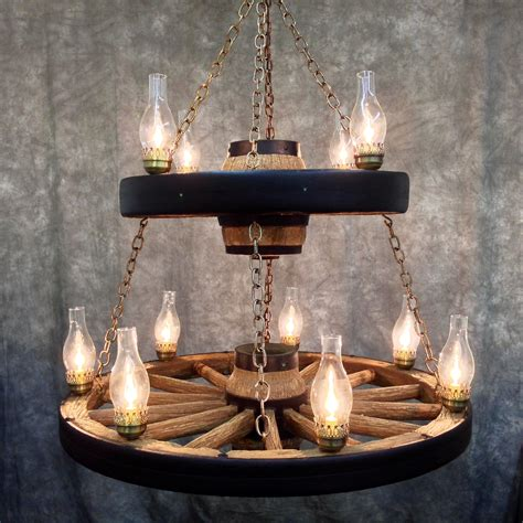 wagon wheel lights wagon wheel chandelier with 11 chimney lights