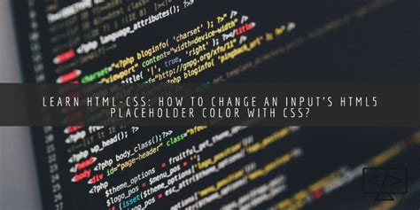 change placeholder color how to change an input s html5 placeholder color with css